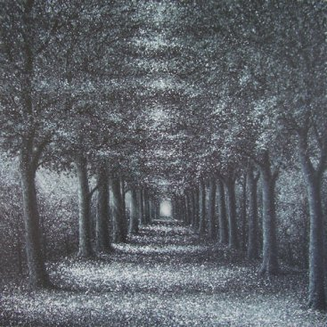 The-Season-of-Love—SILVER-TRAIL-II,-Narate-Kathong,-120-x-120-cm,-oil-_-acrylic-on-canvas,-2011-[8275]