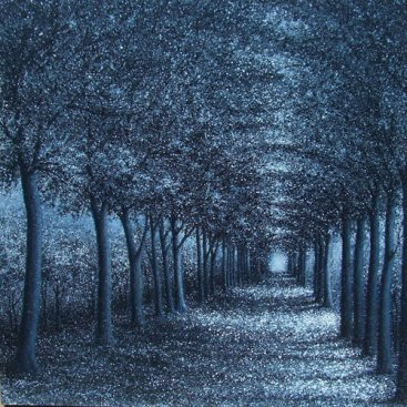 The-Season-of-Love—SILVER-TRAIL-I,-Narate-Kathong,-120-x-120-cm,-oil-_-acrylic-on-canvas,-2011-[8300]