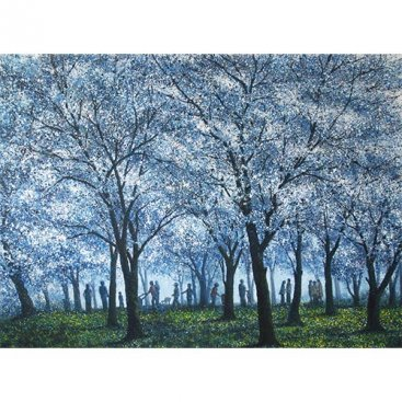 Life-with-the-Nature–White-Park,-Narate-Kathong,-oil-and-acrylic-on-canvas,-150X110-cm,-2012
