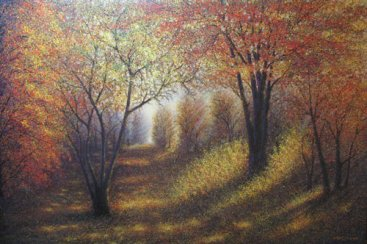 [Masterpiece-Collection]-The-Season-of-Love—DEEP-FOREST,-Narate-Kathong,-300-x-200-cm,-oil-_-acrylic-on-canvas,-2009-[8301]