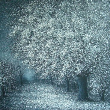 The-Season-of-Love—ROMANCE-OF-WINTER-III,-Narate-Kathong,-120-x-120-cm,-oil-_-acrylic-on-canvas,-2011-[8317]