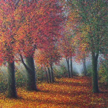 The-Season-of-Love—FIRST-AUTUMN,-Narate-Kathong,-100-x-100-cm,-oil-_-acrylic-on-canvas-2012-[8400]