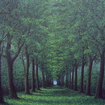 The-Season-of-Love—ROMANCE-PARK-IN-SUMMER-MORNING-I,-Narate-Kathong,-150-x-150-cm,-oil-_-acrylic-on-canvas,-2011-[8360]