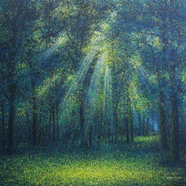 The-Season-of-Love—LIGHT-OF-HOPE—Narate-Kathong,-150-x-150-cm,-oil-_-acrylic-on-canvas,-2012
