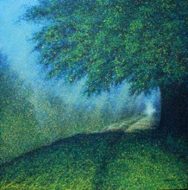 The-Season-of-Love—ROMANCE-IN-SUMMER-MORNING-I,-Narate-Kathong,-120-x-120-cm,-oil-_-acrylic-on-canvas,-2011-[8349]