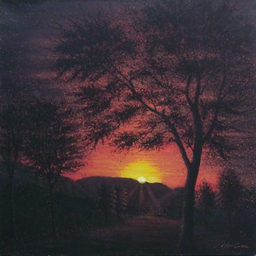 The-Season-of-Love—BEAUTIFUL-SUNSET,-Narate-Kathong,-100-x-100-cm,oil-_-acrylic-on-canvas,–2012-[8368]