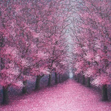 The-Season-of-Love—SPRING-TRAIL,-Narate-Kathong,-150-x-150-cm,-2011-[8359][SOLD-BS-400017]