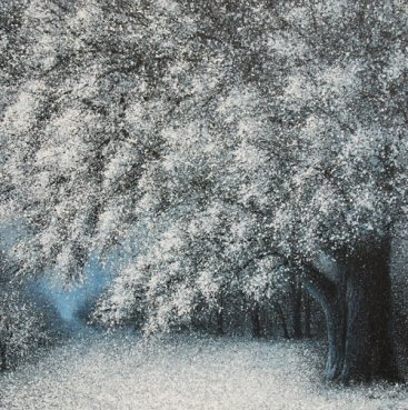 The-Season-of-Love—WINTER-NIGHT-II,-Narate-Kathong,-150-x-150-cm,-oil-_-acrylic-on-canvas,-2011-[8348]